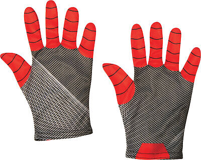 Spider-Man Spiderman ADULT Gloves Costume Accessory NEW Red Black