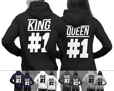 Und 1 Pullover (KING #1 und QUEEN #1 Pärchenpullis im SET Pärchen Pullover im Doppelpack NEU)