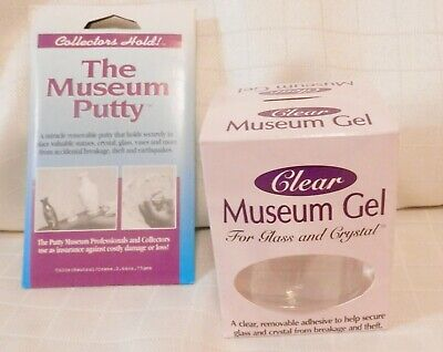 Clear Museum Gel for Glass & Crystal + Museum Putty NEW Clear Museum Gel
