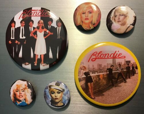 BLONDIE PIN BUTTON OR MAGNET SET Debbie Deborah Harry 70s 80s Disco Punk New wav