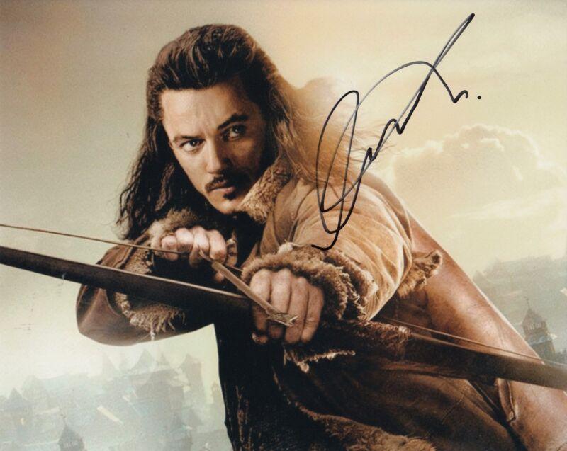 LUKE EVANS signed (The Hobbit: The Desolation) Movie 8X10 photo *BARD* W/COA