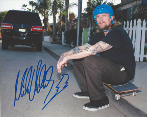 MIKE VALLELY SKATEBOARD LEGEND SIGNED 8X10 PHOTO B w/COA BONES BRIGADE PROOF