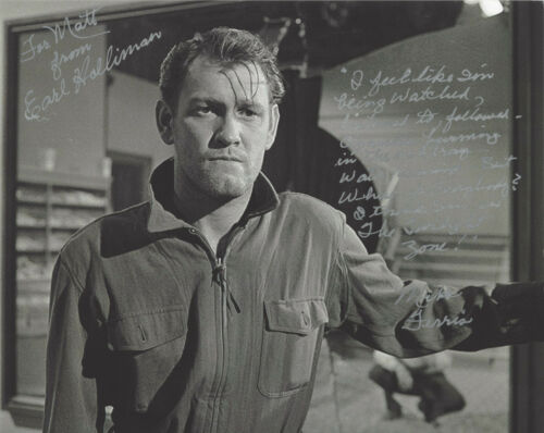 EARL HOLLIMAN SIGNED AUTHENTIC 'THE TWILIGHT ZONE' 8X10 PHOTO B w/COA ACTOR