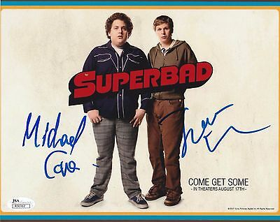 Michael Cera   Jonah Hill Dual Signed Superbad 8X10 Photo Jsa Authenticated