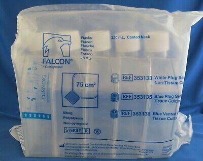 60 Bd Falcon 250ml Non Tct Cell Culture Flasks Plug Seal Cap 75 Cm 353133