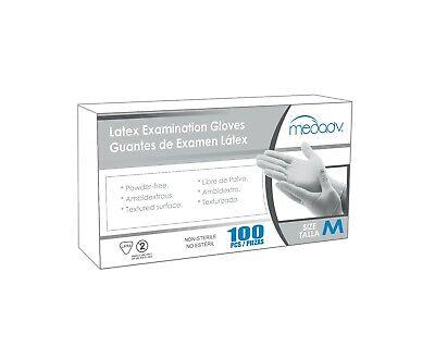 Disposable Powder Free Latex Medical Exam Gloves Size M Box100 Pcs