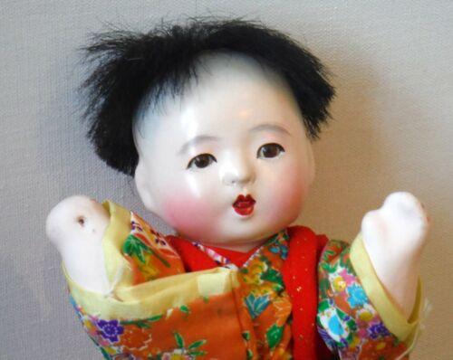 "Vintage Japanese Child Doll Composition 7 1/2"" P541"