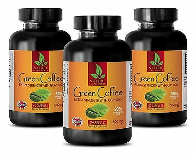 Chlorogenic Acids 800mg - Green Coffee Extract GCA - Boosts Metabolism 180 Pills
