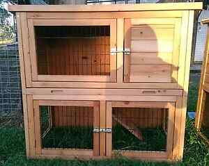❤❤DELUX DOUBLE STORYHUTCH PULLOUT TRAY BABY MINI LOPS GUINEA PIG Londonderry Penrith Area Preview