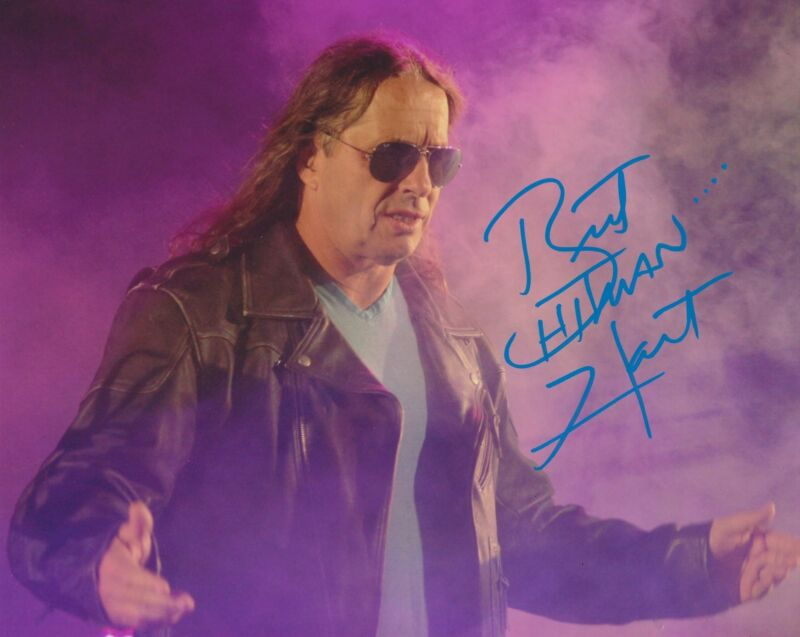 BRET THE HITMAN HART SIGNED WWE WWF 8X10 PHOTO 11