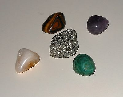 Money Attraction Prosperity Wealth Stones Pyrite Citrine Jade Amethyst Tiger (Amethyst Tiger)