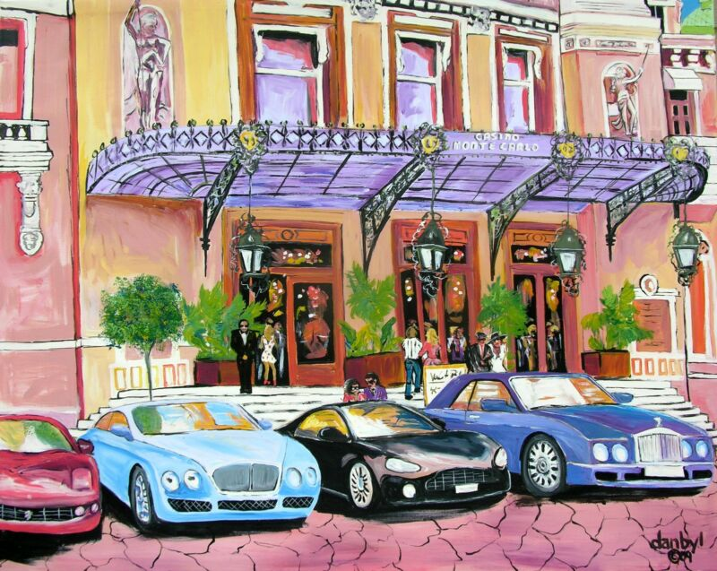 Casino Monte Carlo Original Art Painting Dan Byl Modern Contemporary Large 4x5ft