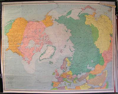 Schulwandkarte Wall Map School Map North Arctic Northern Globe 145x116 59