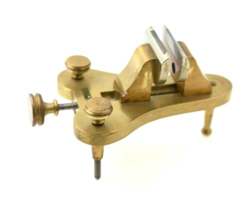 Antique Watchmakers German Brass Poising Tool Vise EXCELLENT