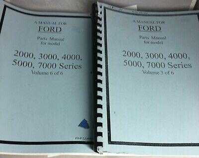 Ford 2000 3000 4000 5000 7000 Series Parts Manual Vol 3 Of 6 Vol 6 Of 6