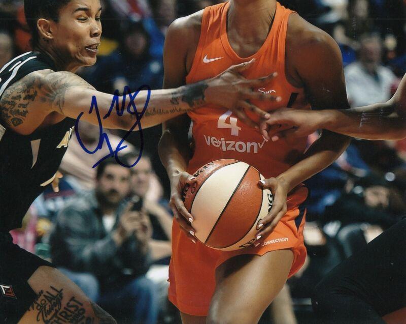 TAMERA YOUNG signed (LAS VEGAS ACES) WNBA *SAN ANTONIO STARS*  8X10 W/COA #1