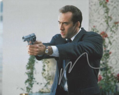 NICOLAS CAGE HAND SIGNED AUTHENTIC 'FACE/OFF' 8x10 PHOTO w/COA NIC ACTOR PROOF