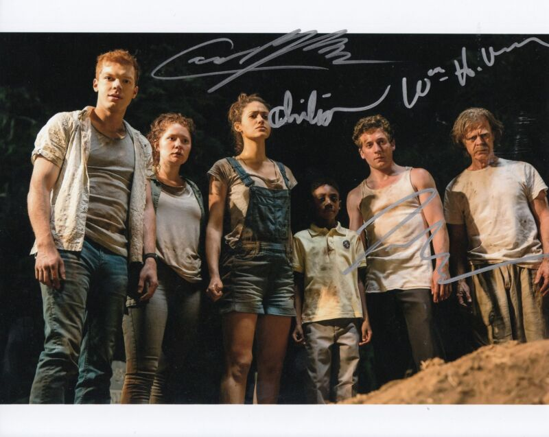 SHAMELESS cast signed 8X10 photo (MACY-MONAGHAN- -WHITE- ISAIAH) W/COA