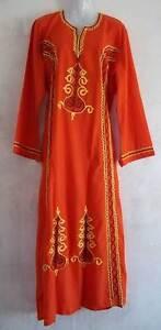 Egyptian-Cotton-Islamic-Embroidered-Abaya-Caftan-Jilbab-Dress-38