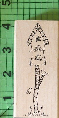 Birdhouse With Little Birds Rubber Stamp P6-6709-6J By Inky Antics  - $4.95