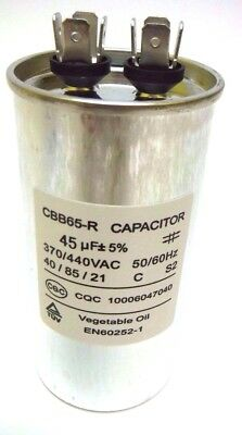 45uf Mfd 370v 440v Vac Oil Filled Motor Run Capacitor Cbb65 50x100mm