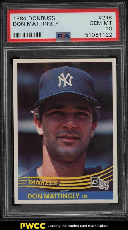 Don Mattingly Baseball Card Database Newest Products Will Be Shown First In The Results 50 Per Page