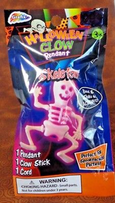 Grafix Spooktacular Party Wear Halloween Glow Skeleton Pendant with Cord](Spooktacular Party)