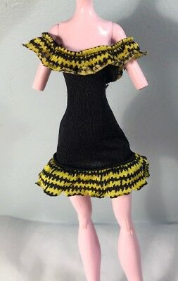 Monster High Doll Dress Black Yellow Create Your Own Monster