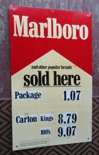 "Vintage Fiberglass Sign- Marlboro & Other Popular Brands Sold Here- 41"" X 24"""