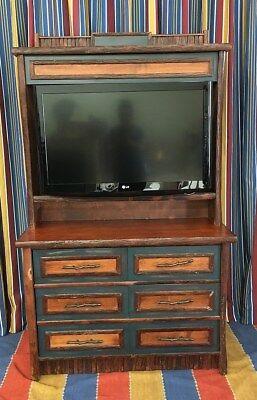 - Disney's Wilderness Lodge Dresser TV Hutch Combo Prop Old Hickory Furniture Co