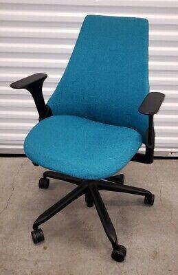 Herman Miller Sayl Office Task Chair Blue Fabric Back Ergonomic Aeron Usa Ex