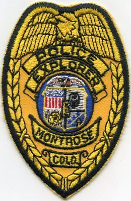 VERY old vintage MONTROSE COLORADO CO Police Explorer POLICE PATCH
