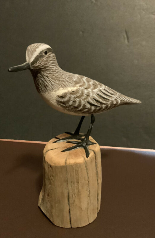Artist Carved Sand Piper By John & Patty Waterfield - NEW