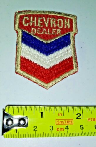 VINTAGE Embroidered Automotive Gasoline Patch UNUSED - CHEVRON DEALER
