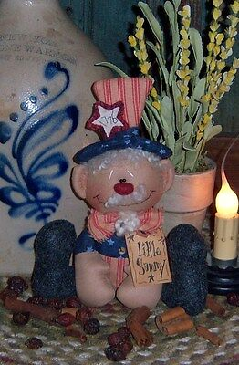 Primitive Uncle Sammy Andy Ornie Doll Paper Pattern #322