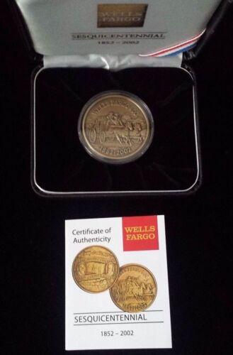 Wells Fargo & Co. 150th Anniversary Commemorative Coin w/ COA & Case Made in USA