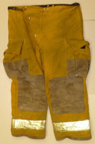44x28 Globe Fire Wear Yellow Firefighter Pants Bunker Turnout  P878