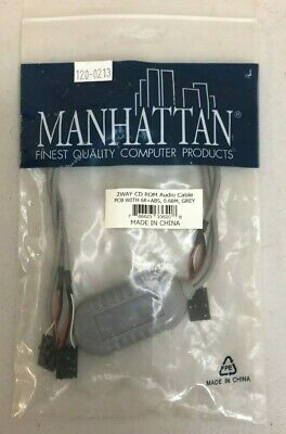Manhattan Computer Products 2 Way CD ROM Audio Cable PCB Grey