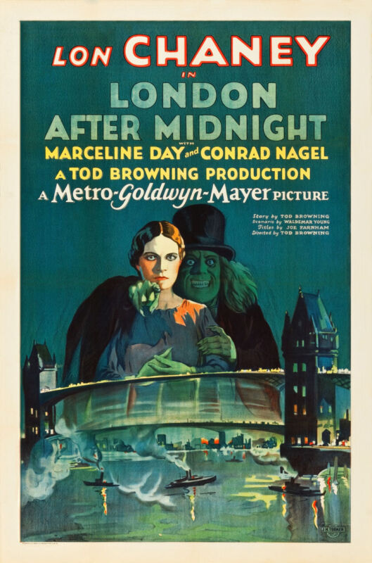 """LONDON AFTER MIDNIGHT 11""""x17"""" MOVIE POSTER PRINT #1"""