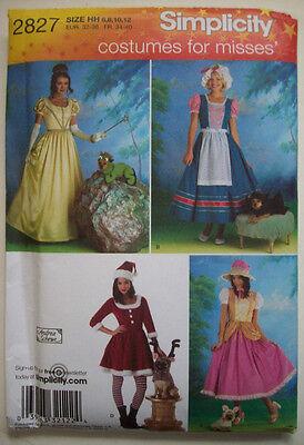Adult Milkmaid (2827 Santa BoPeep Princess Milkmaid all w/ dog costume pattern UNUSED Adult)