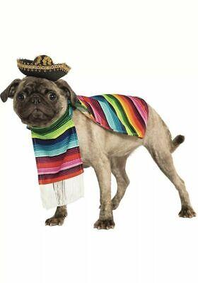 Large Dog Striped Mexican Serape Poncho Dog Pet Costumes Cinco de Mayo