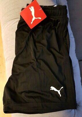 Puma Liga Activewear Shorts Juniors Boys Size UK 11 - 12 Years Black