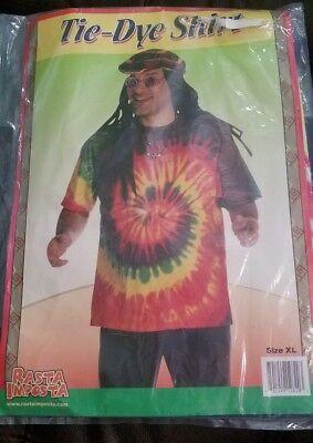 NEW Rasta Imposta Tie-Dye Shirt Size XL T-Shirt Great Halloween Costume Tie Dye