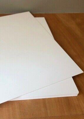 10 Sheets 8.5 X 11 X 1mm Sintra Pvc White Plastic Board