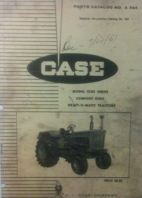Case 1030 Tractor Parts Manual Comfort King Draft-o-matic Farm Agricultural