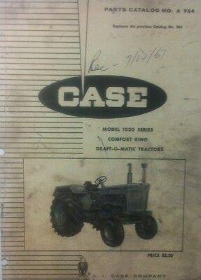 Case 1030 Tractor Parts Manual 194pg. Book Comfort King Draft-o-matic Farm Hay