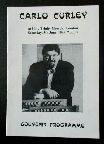 Carlo Curley concert Souvenir Programme Holy Trinity Church Taunton 5 June 1999
