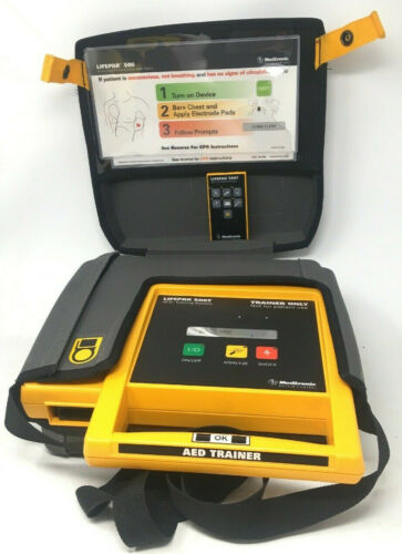 Medtronic LifePak 500T Training AED System - Battery - Case - Remote (No Pads)