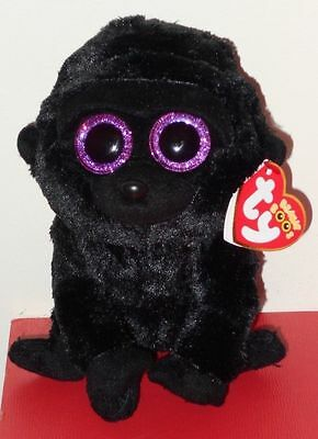 "Ty Beanie Boos ~ GEORGE the 6"" Gorilla ~ Plush Toy (NEW) 2017 Design ~ IN HAND"