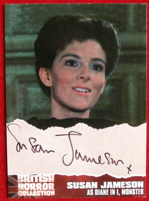"BRITISH HORROR - Autograph SJI - SUSAN JAMESON as Diane in ""I, MONSTER"""